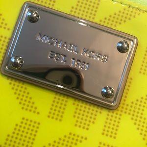 Michael Kors Bags - Michael Kors neon yellow small wallet/change purse